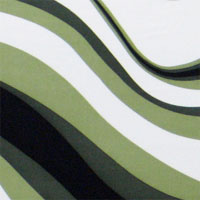 "Printed Charmeuse, 45"" - Undulating Stripe, White / Sage / Olive / Black (B-Grade - Oil  Spots) 011B - 8029-1X"