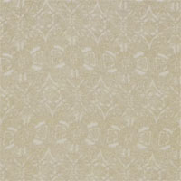 "Printed Crepe De Chine, 14mm,  45"" - Lace  - Tan on Natural 014F - 1121-5"
