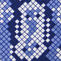 "Printed Crepe De Chine, 14mm,  45"" - Digital Python, Lapis Blues 014F - 9233-3"