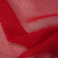 "Chiffon, 8mm, 43-44"" - Red 015J - 200"