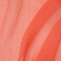 "Chiffon, 8mm, 43-44"" - Hot Coral 015J - 625"