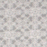 "Embroidered Crinkle Georgette 52-53""  ""Daisy Chain"" - Natural White 073U - 000"
