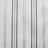 "19mm Silk/Cotton, 45"" - White with Black Stripes 080A - 001"