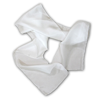 Charmeuse Scarf, 8 X 54, 19mm, White 122