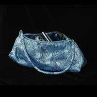 "Brocade Handbag, 6.5x12"" - Niagra Blue 833 - 001"
