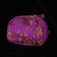 "Brocade Jewelry Case, 3.5x5x2"" - Cerise 837 - 002"