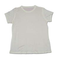 Short Sleeve T-Shirt, Knitted - White, Large 9780 - WHT-L