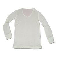 Lt. Long Sleeve Top - White Large 9840 - WHT-L