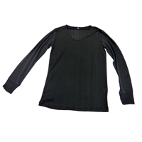 Long Sleeves Knitted Top - Black, Medium 9910 - BLK-M