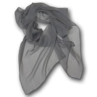 "17X72"" 6MM Chiffon Scarf - Grey Frost 722-1 - 163"