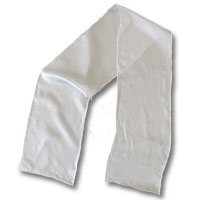 "Paj Scarf,  8 X 54"" , 5mm, Natural White 850"